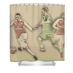 Mesut Ozil Shower Curtain by Don Kuing