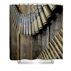 Shower Curtain featuring the photograph Metal And Wood by Lora Lee Chapman