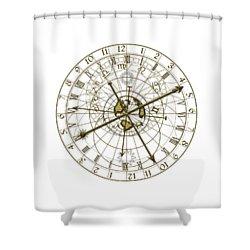 Metal Astronomical Clock Shower Curtain