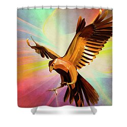 Metal Bird 1 Of 4 Shower Curtain