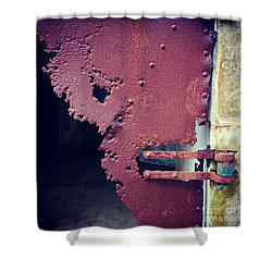 Metal Door Ode To Sam Shower Curtain