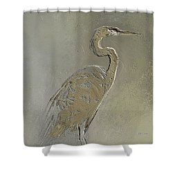 Metal Egret 3 Shower Curtain