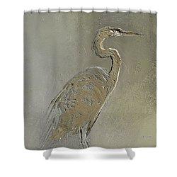 Metal Egret 3 Shower Curtain