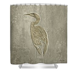 Metal Egret 4 Shower Curtain