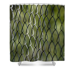 Metal Fence Shower Curtain
