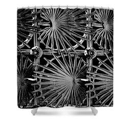 Metal Gate Shower Curtain