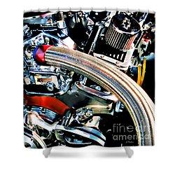 Metal Matter Shower Curtain by Linda  Parker