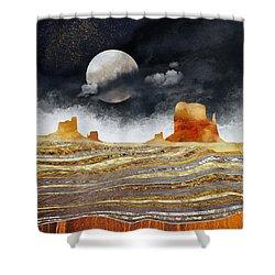 Metallic Desert Shower Curtain