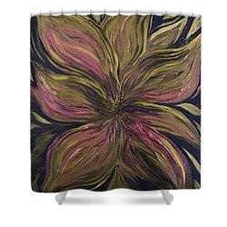 Metallic Flower Shower Curtain