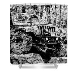 Metallic Jeep Jku Wrangler Shower Curtain