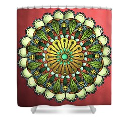 Metallic Mandala Shower Curtain