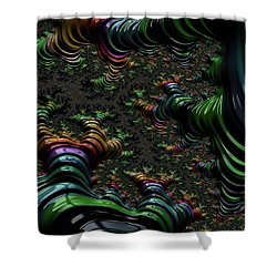 Metallic Roots Shower Curtain