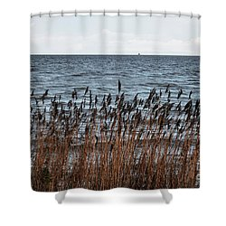 Metallic Sea Shower Curtain