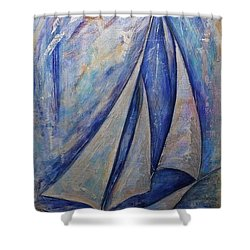 Metallic Seas Shower Curtain