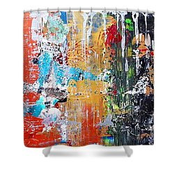 Metallic Winter Shower Curtain