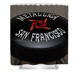 Metallica Bar Stool Shower Curtain