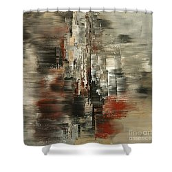 Shower Curtain featuring the painting Metals And Magnetism by Tatiana Iliina