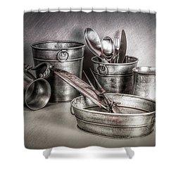 Metalware Still Life Shower Curtain by Tom Mc Nemar
