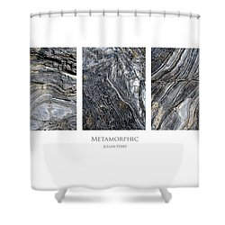 Shower Curtain featuring the digital art Metamorphic by Julian Perry