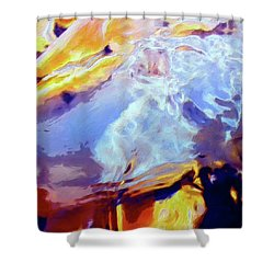 Shower Curtain featuring the painting Metamorphosis by Dominic Piperata