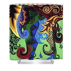 Metaphysical Fauna Shower Curtain by Genevieve Esson
