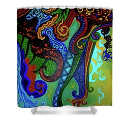 Metaphysical Habituation Shower Curtain by Genevieve Esson