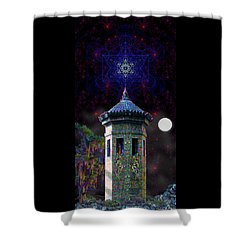 Metatron Nocturnal Shower Curtain by Iowan Stone-Flowers