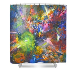Metatronic Energies Shower Curtain
