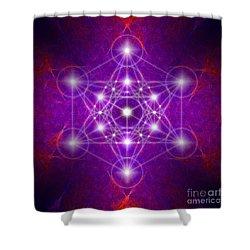 Metatron's Cube Colors Shower Curtain
