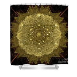 Metatron's Cube Geometric Shower Curtain