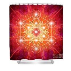 Metatron's Cube Light Shower Curtain