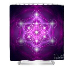 Metatron's Cube Purple Shower Curtain