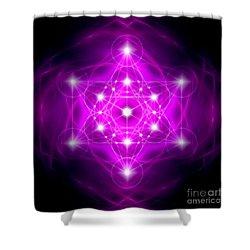 Metatron's Cube Vibration Shower Curtain