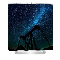 Meteor Above Grasshopper Shower Curtain