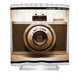 Shower Curtain featuring the photograph Meteor Film Camera by Mike McGlothlen