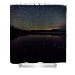 Meteor Over Chocorua Lake Shower Curtain