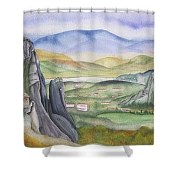 Meteora Shower Curtain