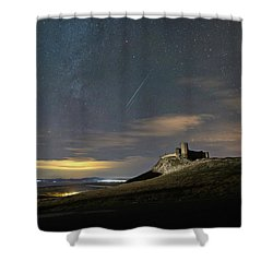 Meteors Above The Fortress Shower Curtain