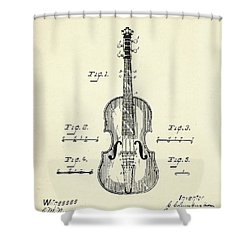 Method Of Improving The Tone Of Violins-1888 Shower Curtain