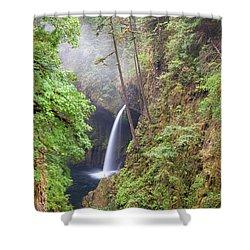 Metlako Falls In Columbia River Gorge Shower Curtain