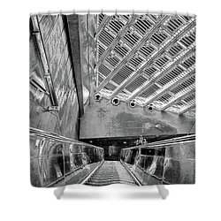Metro Line 4 Structures, Budapest 3 Shower Curtain