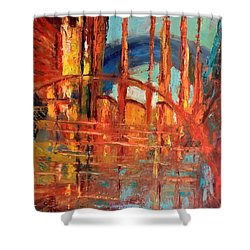 Metropolis In Space Shower Curtain