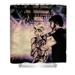 Metropolis Revisited  Shower Curtain by Bob Orsillo