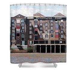 Metropolitan Wharf Shower Curtain by Peter Wilson