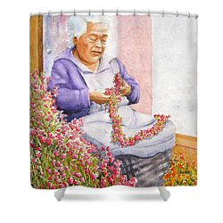 Mexican Flower Shower Curtain