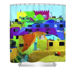 Mexican Homes Shower Curtain