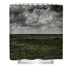 Mexican Jungle Panoramic Shower Curtain
