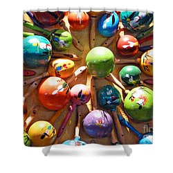 Mexican Maracas Shower Curtain