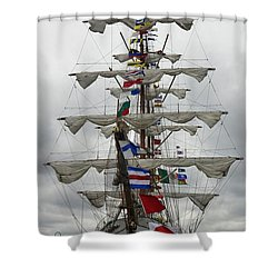 Mexican Navy Ship Shower Curtain