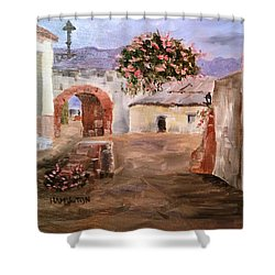 Mexican Street Scene Shower Curtain